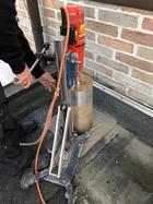 Nassbohrung durch Garagendecke aus Beton