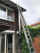 Montage bis zum Dach Seitenansicht