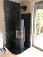 Ofenanschluß mit Brandschutzhülse und Vermiculit Platte