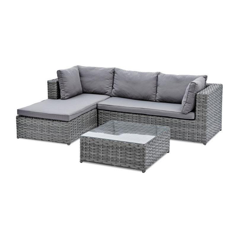 Gartenmöbel Belardo Lounge Set Xestia Inkl. Siz- und Rücken