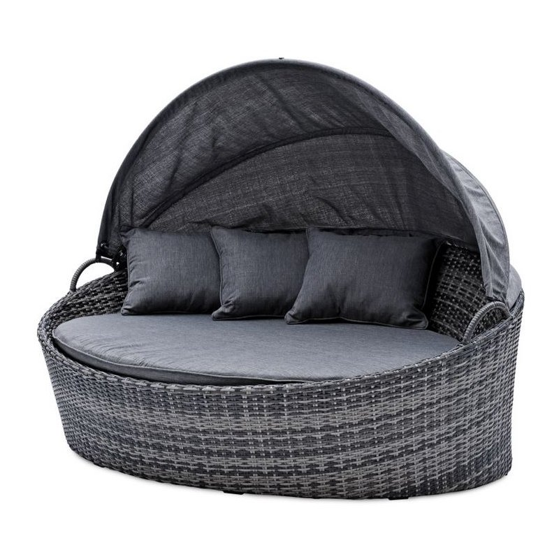 gartenm bel belardo minois sonneninsel grau inkl auflage zier. Black Bedroom Furniture Sets. Home Design Ideas