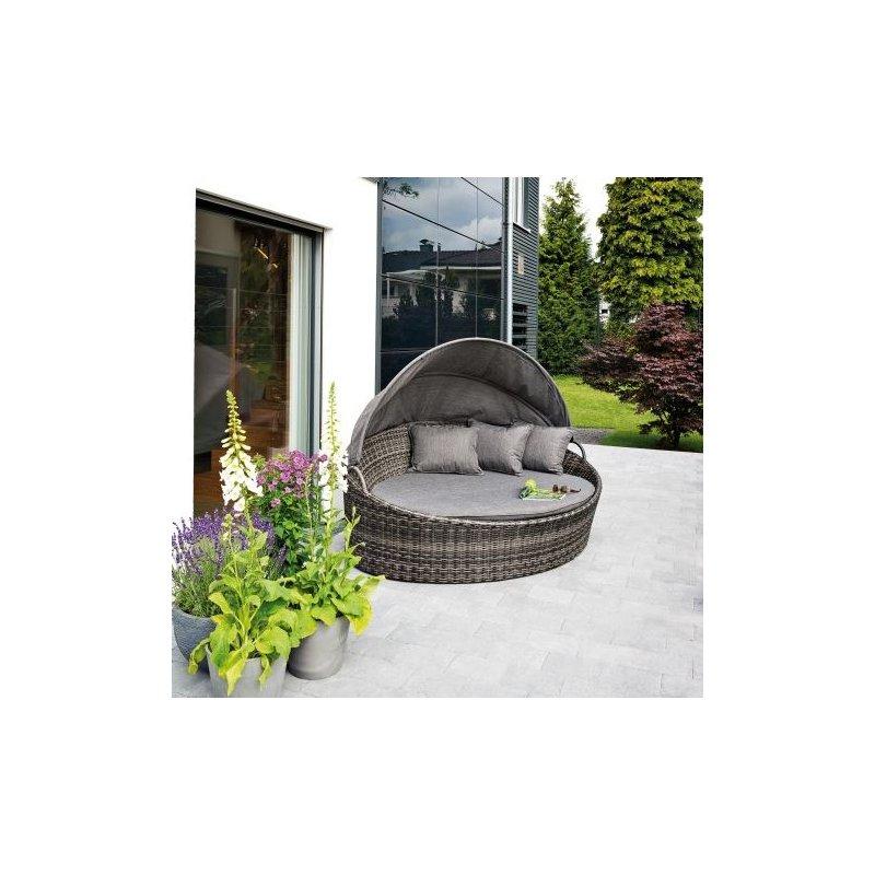 gartenm bel belardo minois sonneninsel grau inkl auflage. Black Bedroom Furniture Sets. Home Design Ideas
