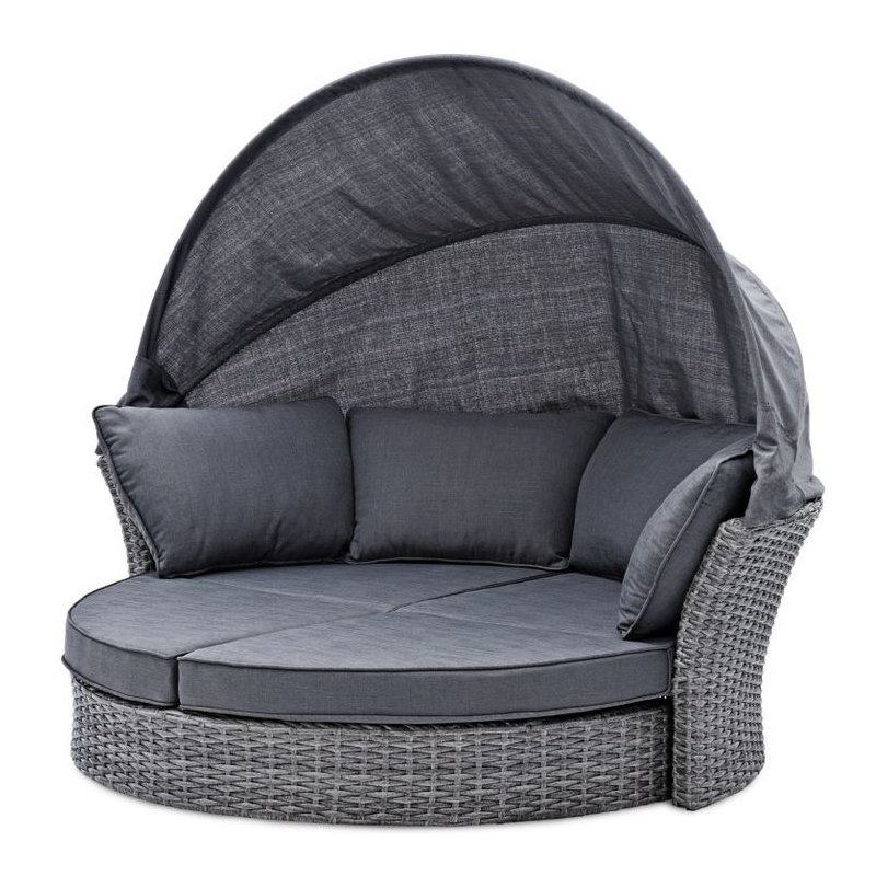 gartenm bel belardo minois sonneninsel grau inkl auflagen r u. Black Bedroom Furniture Sets. Home Design Ideas