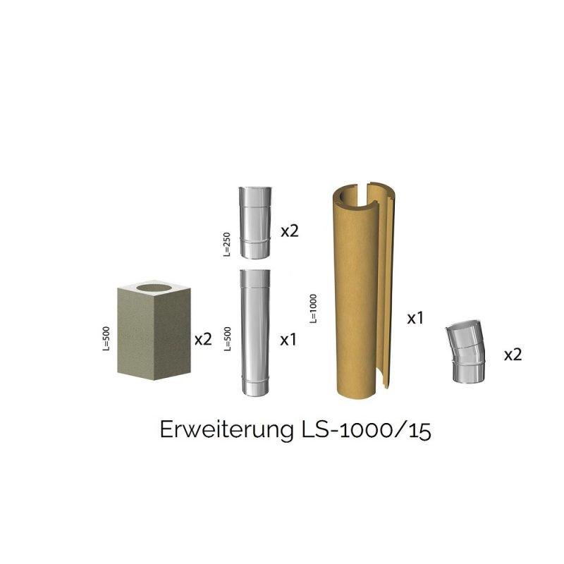 leichtbauschornstein schachtsystem inkl edelstahlrohr 150 m. Black Bedroom Furniture Sets. Home Design Ideas