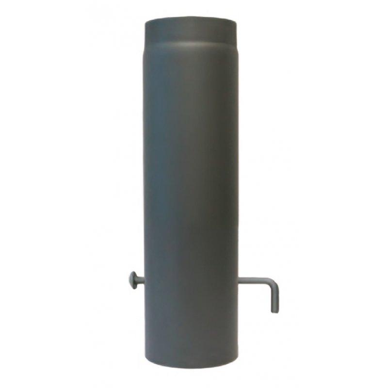 rauchrohr ofenrohr l ngenelemente mit drosselklappe dn 150 mm 1. Black Bedroom Furniture Sets. Home Design Ideas