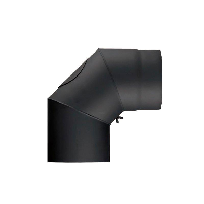 winkel b gen dn 130 mm 90 mit t r schwarz 32 73 euro. Black Bedroom Furniture Sets. Home Design Ideas