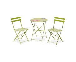 Gartenmöbel Belardo Levana Bistro Set Apple Green