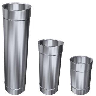 Schornsteinsanierung Edelstahl Kaminrohr Abgasrohr einwandig 0,6mm V4A 250 mm DN 160