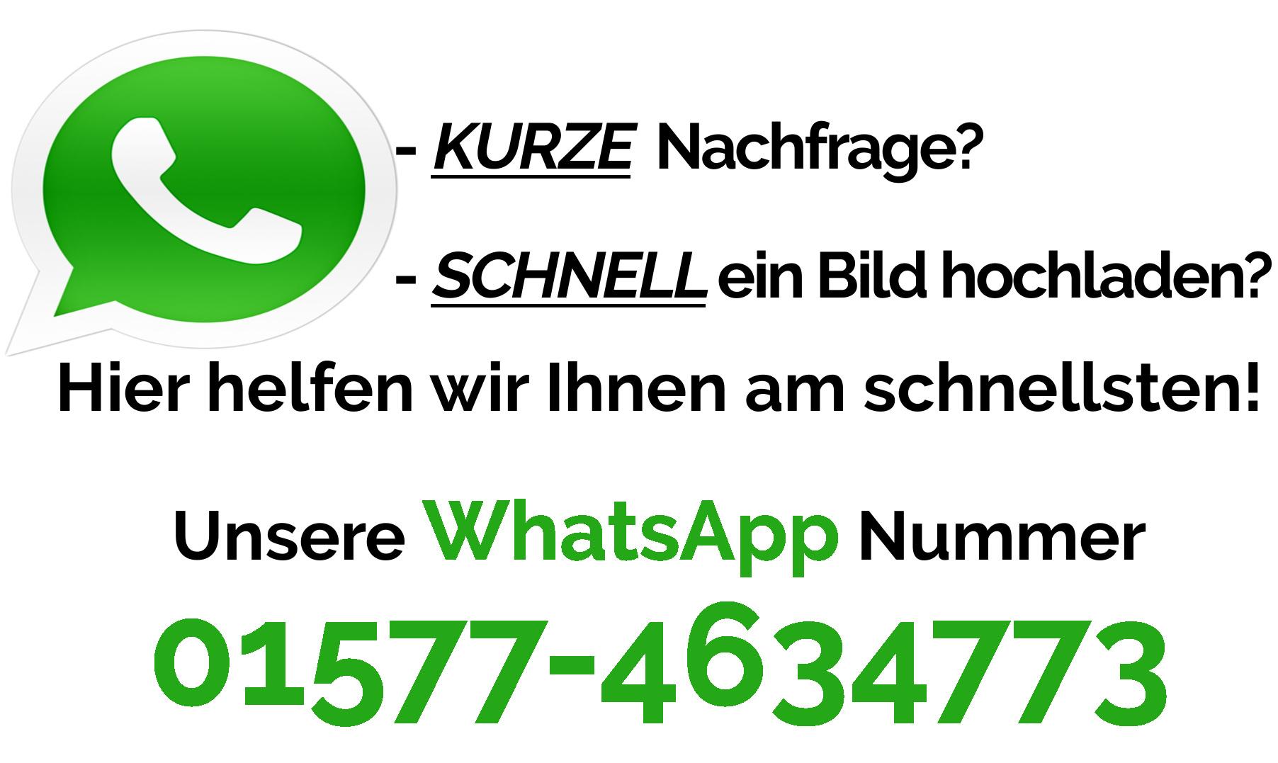 WhatsApp auf Schornstein-Zentrallager